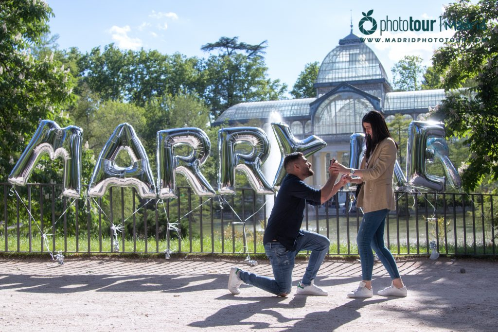 Surprise proposal in Madrid
